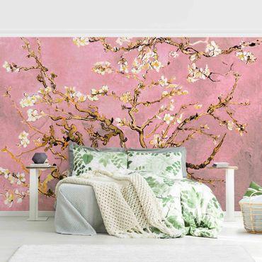 Carta da parati - Vincent van Gogh - Ramo di mandorlo fiorito in rosa antico