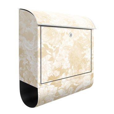 Cassetta postale - Sogno di fiori vintage in beige