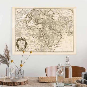 Quadro in vetro - Cartina vintage dell'Oriente