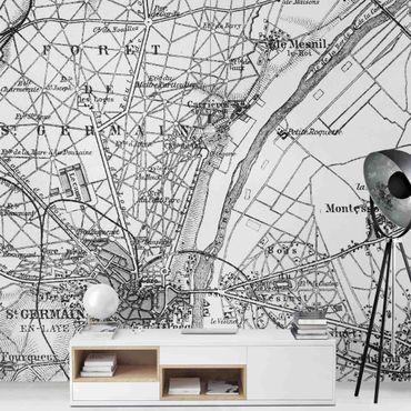 Carta da parati - Mappa di Saint-Germain a Parigi