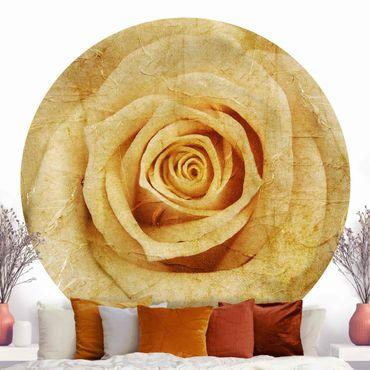 Carta da parati rotonda autoadesiva - Vintage Rose