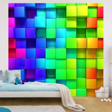 Carta da parati - 3D Cubes