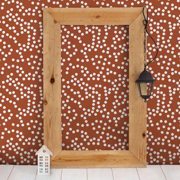 Carta da parati - Aboriginal dot pattern Brown