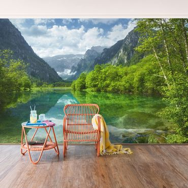 Carta da parati - Mountain lake with reflection