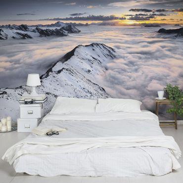 Carta da parati - View of clouds and mountains