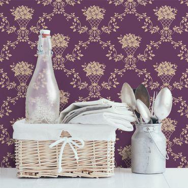 Carta da parati - No.RS11 Flower Basket purple