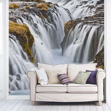 Carta da parati - Bruarfoss waterfall in Iceland