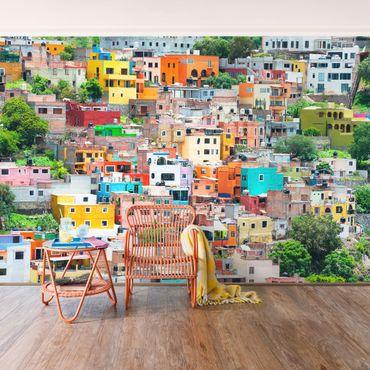 Carta da parati - Coloured house facades Guanajuato