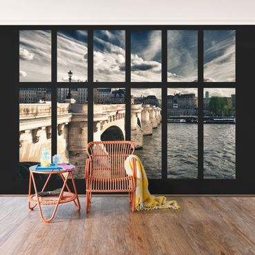 Carta da parati - Window Bridge Paris