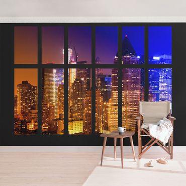 Carta da parati - Window Manhattan Sunrise