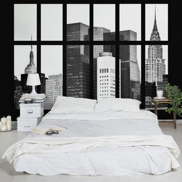 Carta da parati - Window Manhattan Skyscrapers