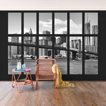 Carta da parati - Window New York Brooklyn Bridge II