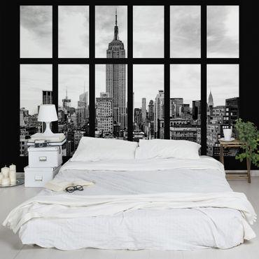 Carta da parati - Window New York Empire State Building