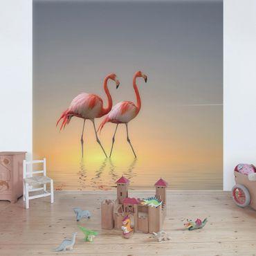 Carta da parati - Flamingo Love