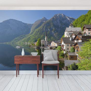 Carta da parati - Lake Hallstatt and mountain view