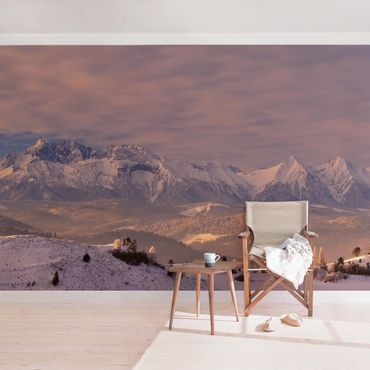 Carta da parati - Alte Tatras al Mattino