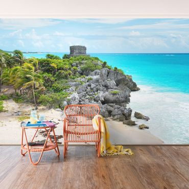 Carta da parati - Caribbean coast Tulum ruins