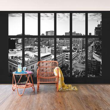 Carta da parati - New York Window black-white