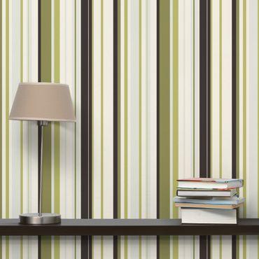 Carta da parati - No.TA103 Stripe Pattern Greens