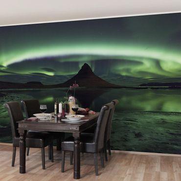 Carta da parati - Aurora polare in Islanda
