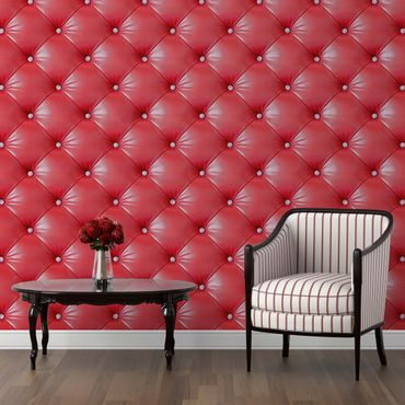Carta da parati - Upholstery red