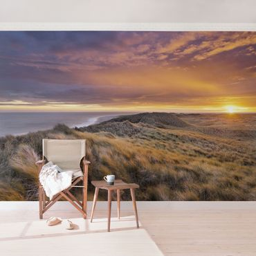 Carta da parati - Sunrise at the beach on Sylt