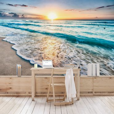 Carta da parati - Sunset At The Beach