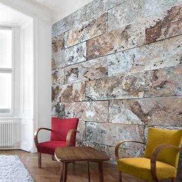 Carta da parati - Natural marble stone wall
