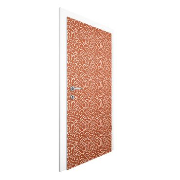 Carta da parati per porte - Aboriginal dot pattern Brown