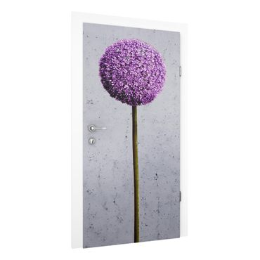 Carta da parati per porte - Allium Flower