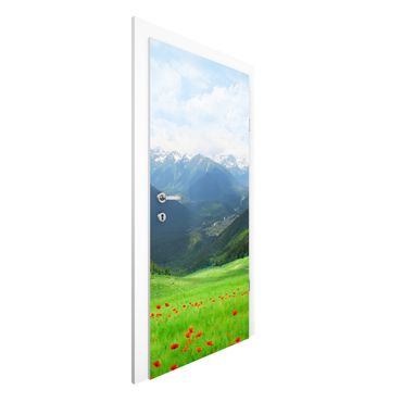 Carta da parati per porte - Alpine Meadow
