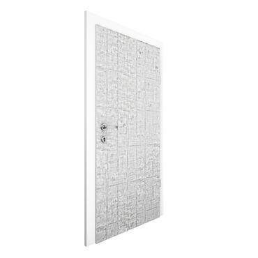 Carta da parati per porte - Concrete Wallpaper - Heavily textured Concrete Slab Wall