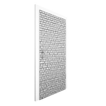 Carta da parati per porte - Brick Wallpaper - Grey Brick Wallpaper UK
