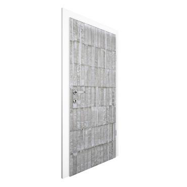 Carta da parati per porte - Concrete Wallpaper - Upright Concrete Slab