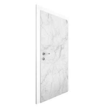 Carta da parati per porte - Bianco Carrara