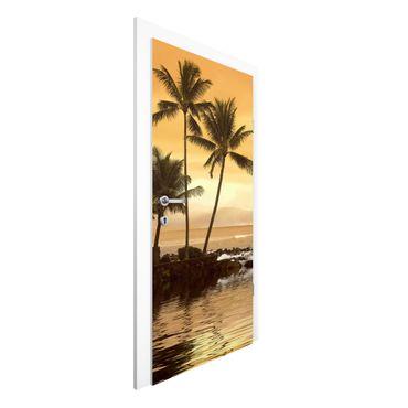 Carta da parati per porte - Caribbean Sunset I