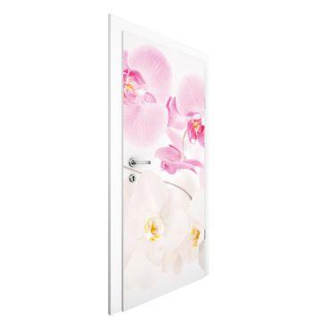 Carta da parati per porte - Delicate Orchids