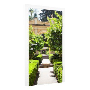 Carta da parati per porte - Garden Path in Alhambra