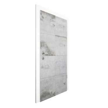 Carta da parati per porte - Concrete Wallpaper - Large Concrete Blocks