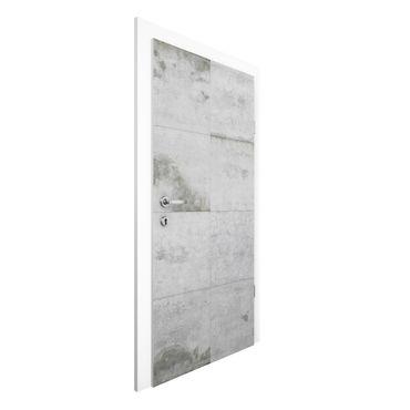 Carta da parati per porte - Concrete Wallpaper - Large Concrete Blocks