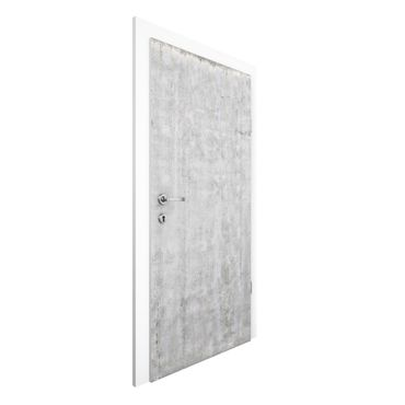 Carta da parati per porte - Concrete Effect Wallpaper - Painted Concrete Wall eroded