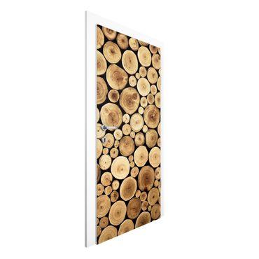 Carta da parati per porte - Homey Firewood
