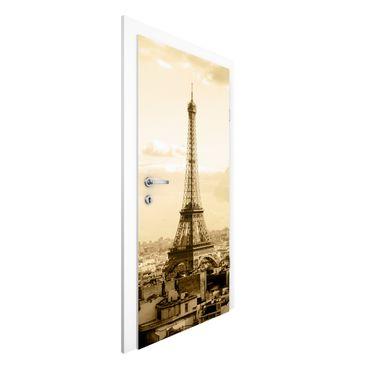 Carta da parati per porte - I Love Paris