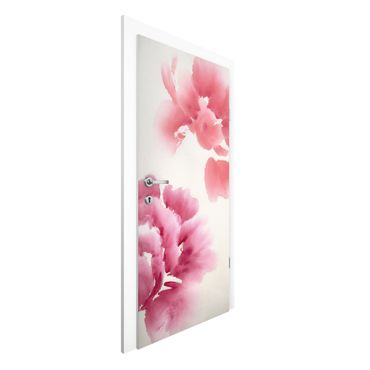 Carta da parati per porte - Artistic Flora II