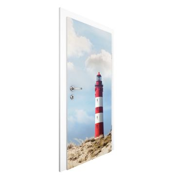 Carta da parati per porte - Lighthouse in the dunes