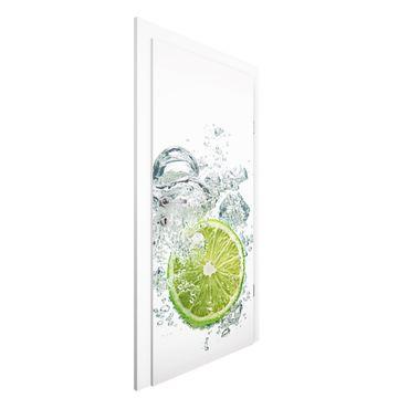 Carta da parati per porte - Lime Bubbles