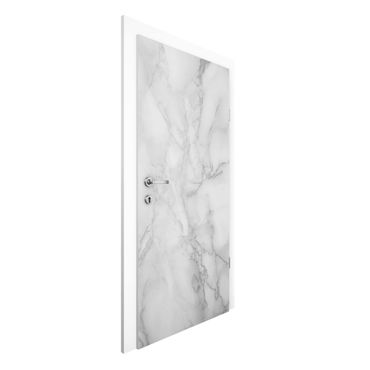 Carta da parati per porte - Marble optic black white