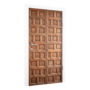 Carta da parati per porte - Mediterranean wooden door from Granada