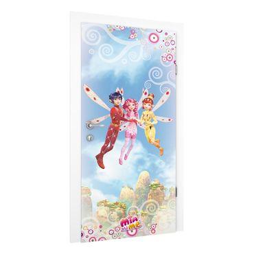 Carta da parati per porte - Mia and me - Mia, Yuko und Mo above the clouds
