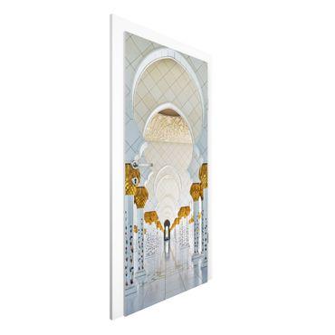 Carta da parati per porte - Mosque In Abu Dhabi